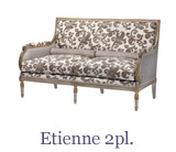 The elegant Etienne 2-seater sofa complements many of Taillardat's armchair designs just perfectly.