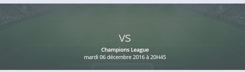 Les matchs de Champions League du 6 décembre 2016