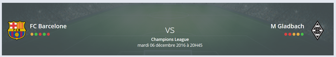 Quel est votre Pronostic Barcelone — M Gladbach Ligue des Champions ?